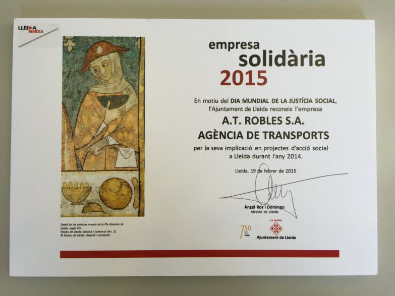 Premio empresa solidaria 2015